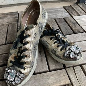 Miu Miu Embellished Jewel Sneakers